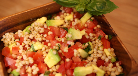 Tomatoe and Avocado Salad with Wholegrain Recipe