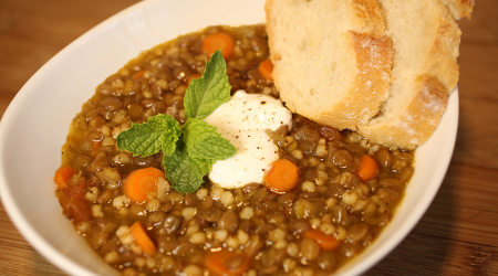 Wholgrain Lentil Soup Recipe